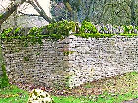 Dry Stone Wall in progress