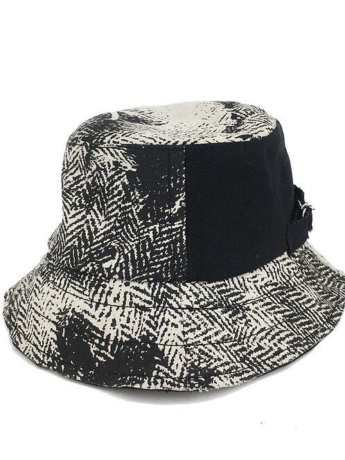 Black on Cream Bucket Hat