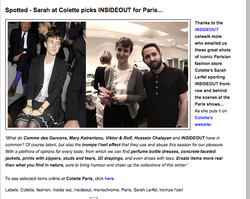 INSIDEOUT  Paris Fashion Week