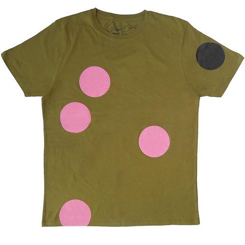 HH x RICHARD TORRY T_SHIRT ( Pink spot/ Khaki /Black Foil)