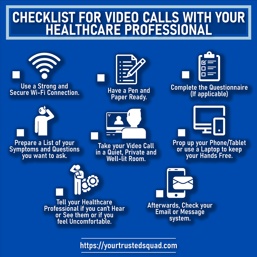 infographic- checklist-speak to your doctor or healthcare professional online by video