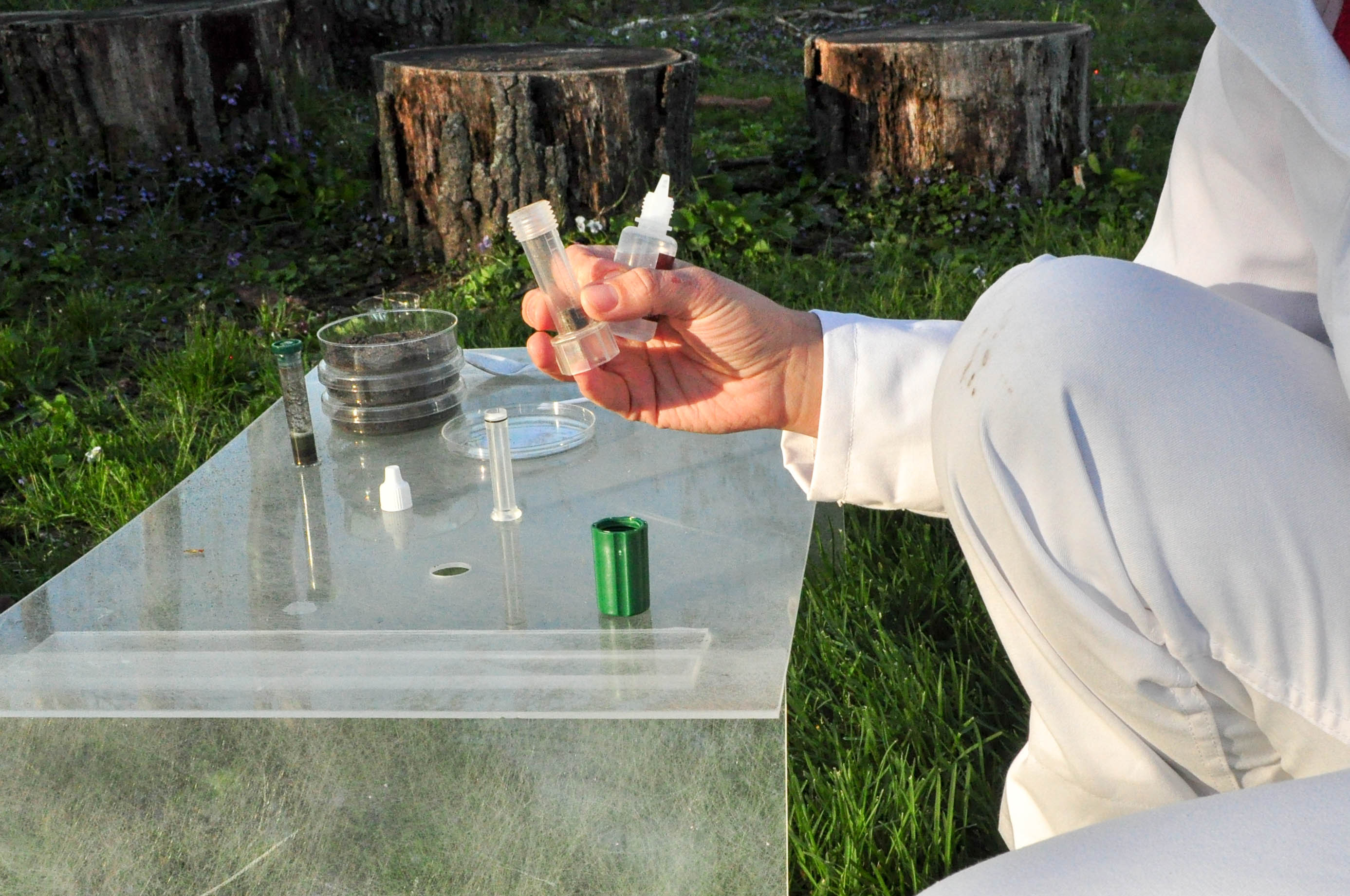 Performing soil tests