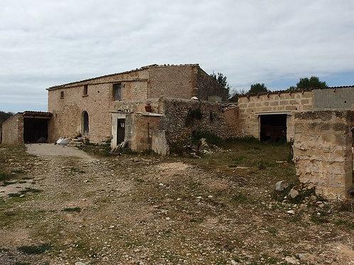 Alte finca komplett zu renovieren mit schöne Blick in Algaida
