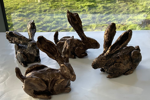 Box of 4 Clay Hare Sculpture Kits