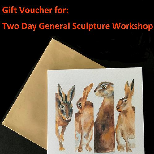 Gift Voucher for 2 Day Sculpture Workshop