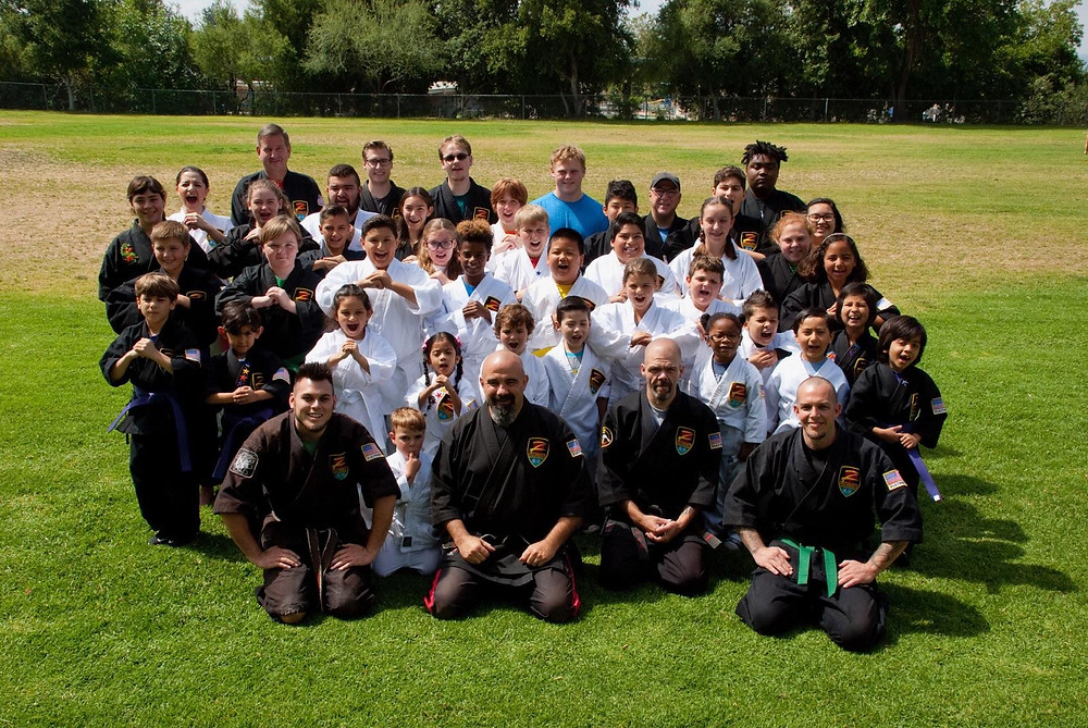 Group Photo of Sensei's and Students in the park.