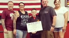 Congrats to Gage Craddock on his Junior Black Belt!  Way to go!