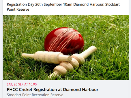 PHCC Cricket is back - time to register