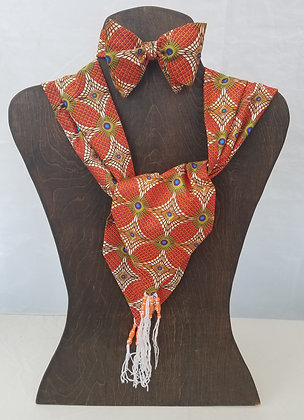 African Print Bow Tie & Scarf~ Self-tie, Adjustable, Adult ~Print 7