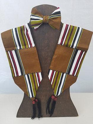 African Print Bow Tie & Scarf~ Self-tie, Adjustable, Adult ~Print 8