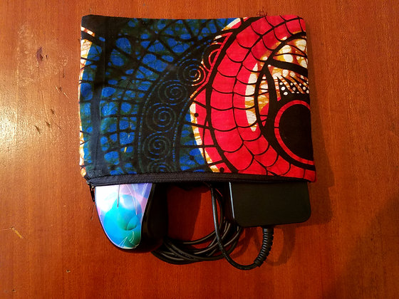 African Print Accessory Case