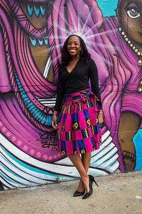 Kitenge Print Wrap Skirt