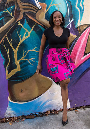 Kitenge Print Wrap Skirt (Dorothy A)