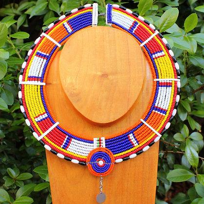 Maasai Beaded Tribal Collar