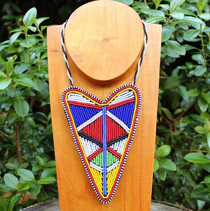 Maasai Beaded Heart Necklace