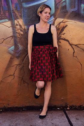 Kitenge Print Wrap Skirt (Siprose O)