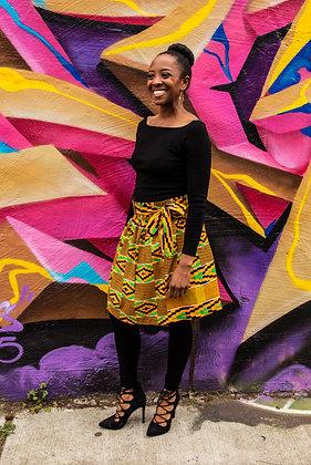 Kitenge Print Wrap Skirt (Juliet A-2)