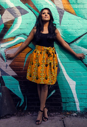 Kitenge Print Wrap Skirt (Mary S-1)