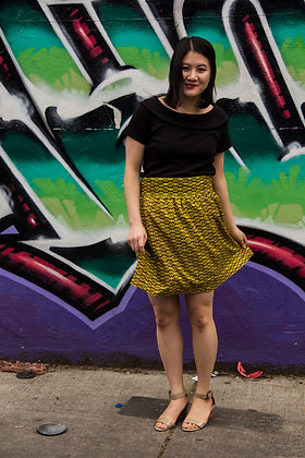 Kitenge Print Wrap Skirt (Maurine S-2)