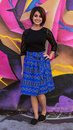 Kitenge Print Wrap Skirt (Dorine A)