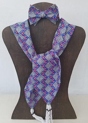African Print Bow Tie & Scarf~ Self-tie, Adjustable, Adult ~Print 9