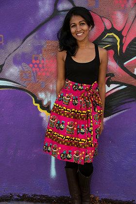 Kitenge Print Wrap Skirt (Millicent Og-1)