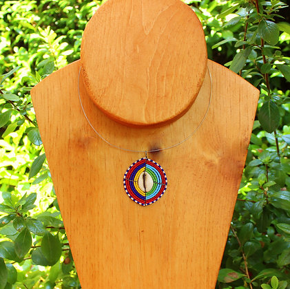 Maasai Beaded Cowrie Shell Necklace