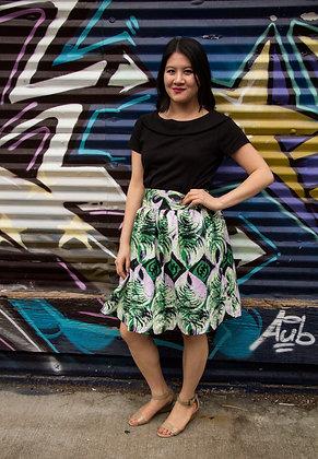 Kitenge Print Wrap Skirt (Mercy Ak-1)