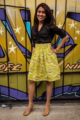 Kitenge Print Wrap Skirt (Juliet A-1)