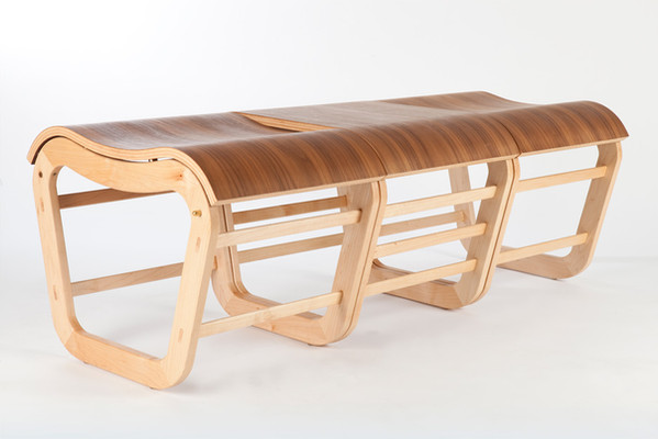 Mode stools & table connected together