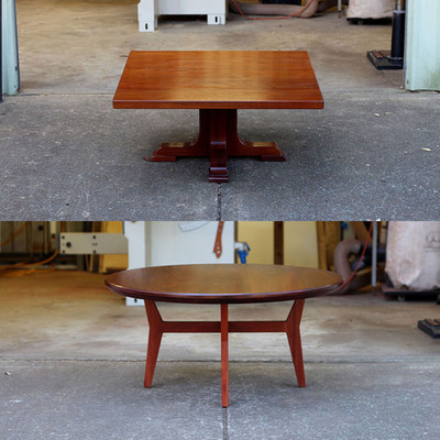 Fremantle coffee table before and after