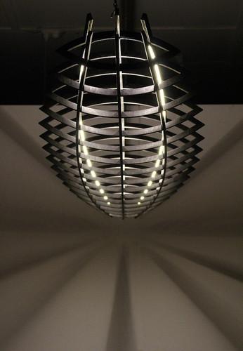 Hull pendant light in Black Japan stain