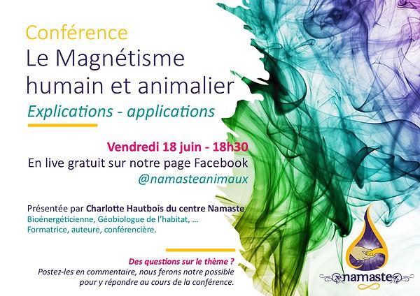 affiche FB conférence magnétisme 18 juin