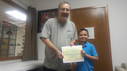 Armando's Certificate of Completion
