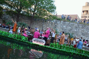 Students compete at the River Parade where they won 1st place out of 48.