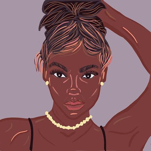 Striking girl illustration