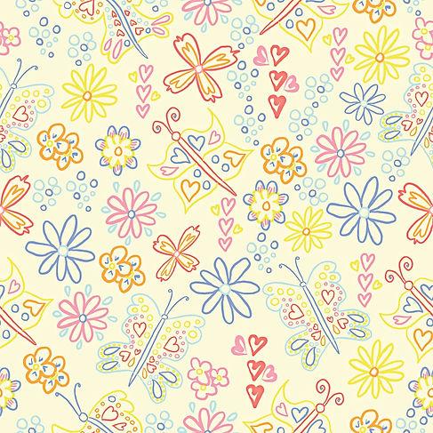 Yellow Butterflies Pattern