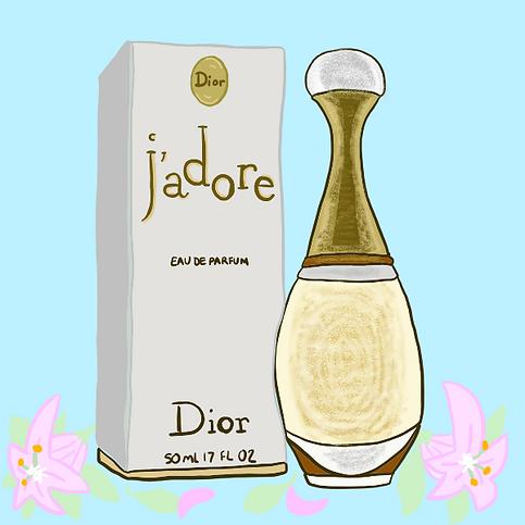 Branding Illustration - Dior Perfume