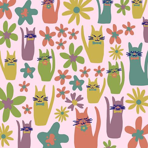 Kitties in Pastels
