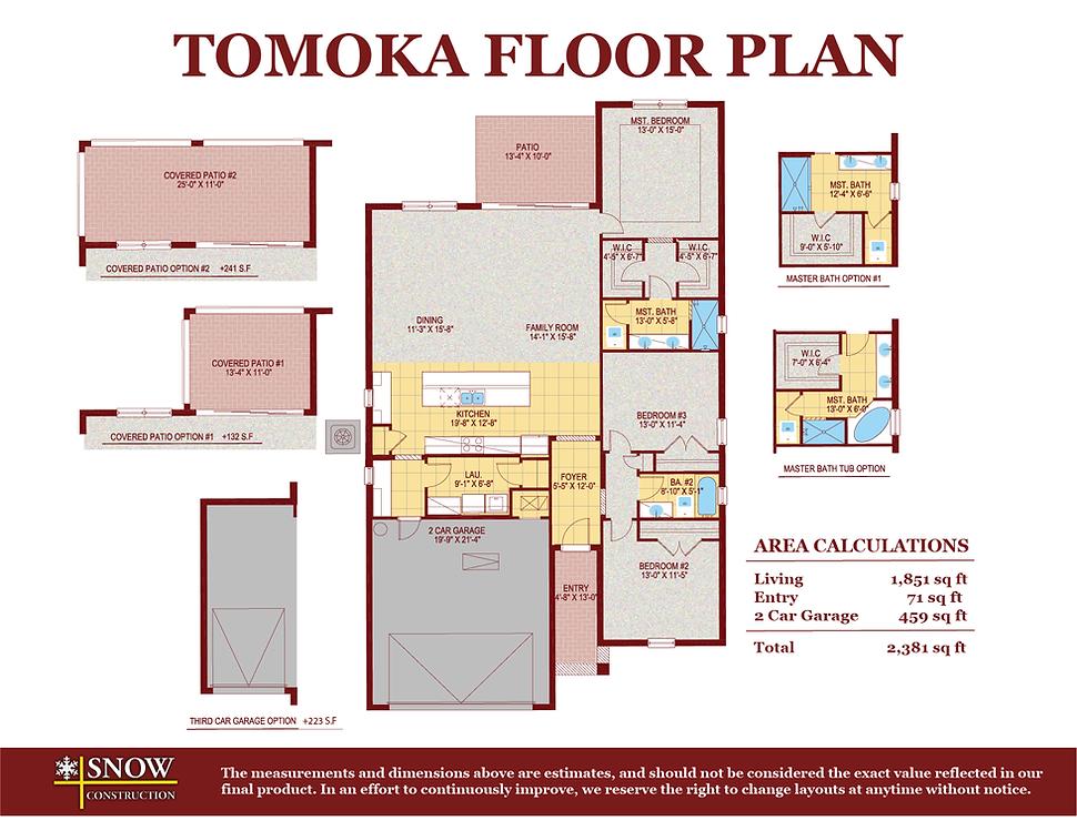 Tomoka Floor Plan Home For Sale St. Cloud Florida