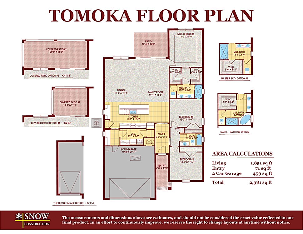 Tomoka Floor Plan Home For Sale St. Cloud Florida
