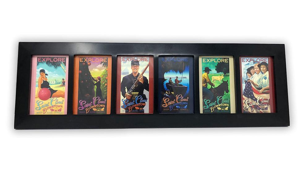 Post Cards Collection - Framed Set of 6