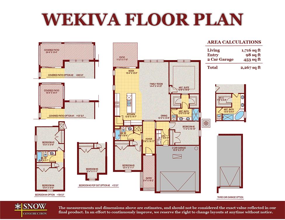 Wekiva Floor Plan Home For Sale St. Cloud Florida