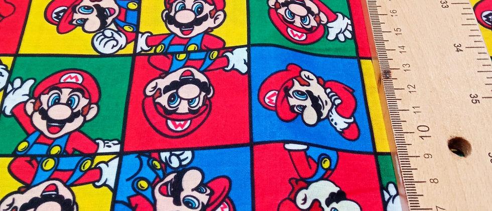 Retal algodón 33x48cm Mario Bros