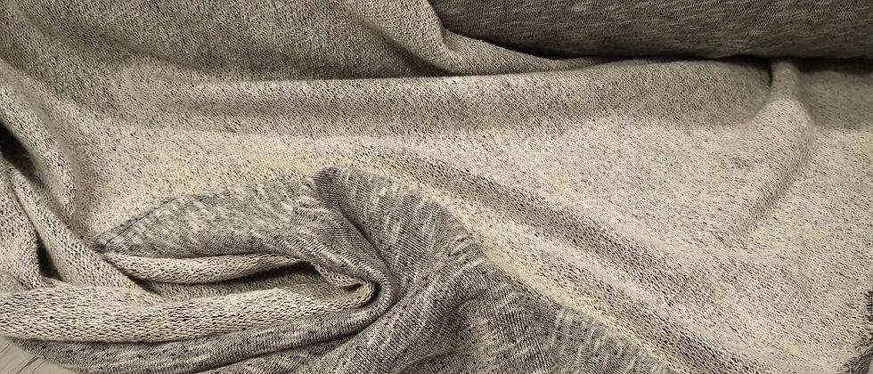 Punto de sudadera gris jaspeado 2m ancho