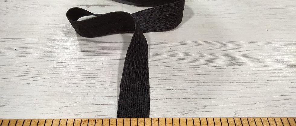 Goma negra 2.5cm ancho