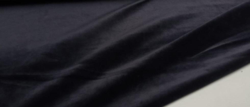 Terciopelo de punto elástico negro