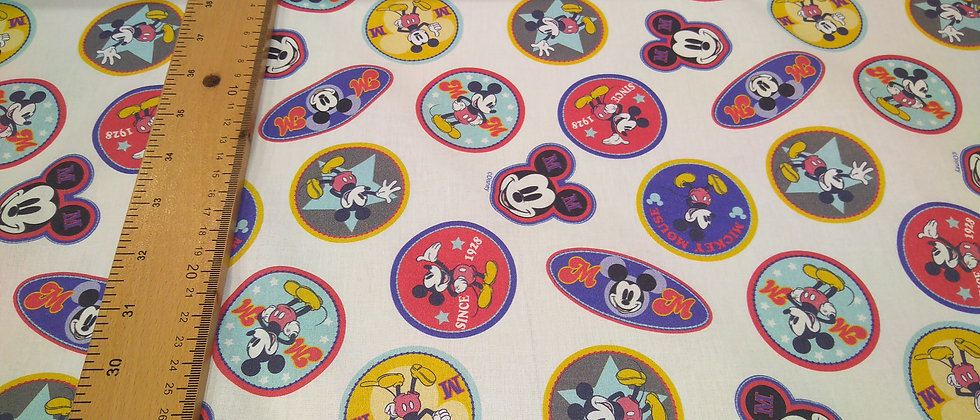 Algodón Mickey Mouse sellos
