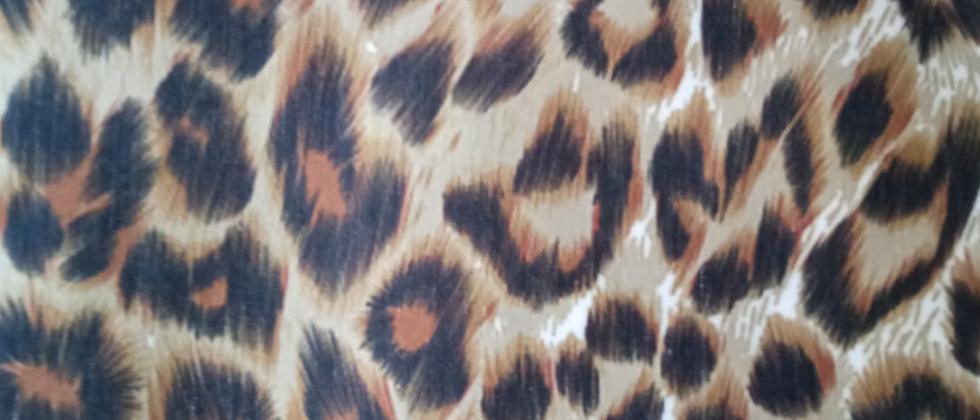 Retal algodón 33x48cm Leopardo 1