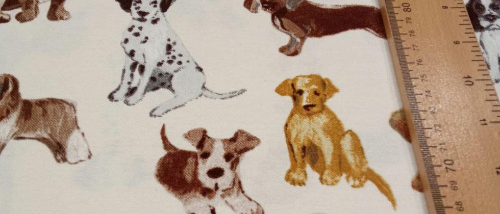 Loneta beige perritos 1.50m ancho